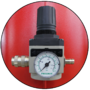 Pressure regulator and manometer